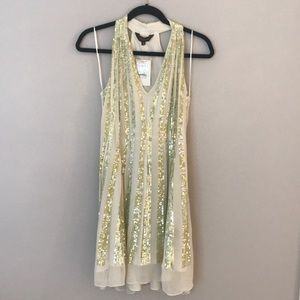Anthropologie Sequined Swing Dress